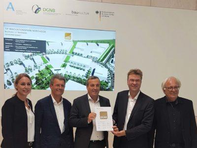 Nachhaltige Quartiersentwicklung: Auszeichnung in Gold für den TIP Innovationspark Nordheide